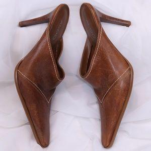 Aldo Western Style Pointy Toe Stiletto Mules